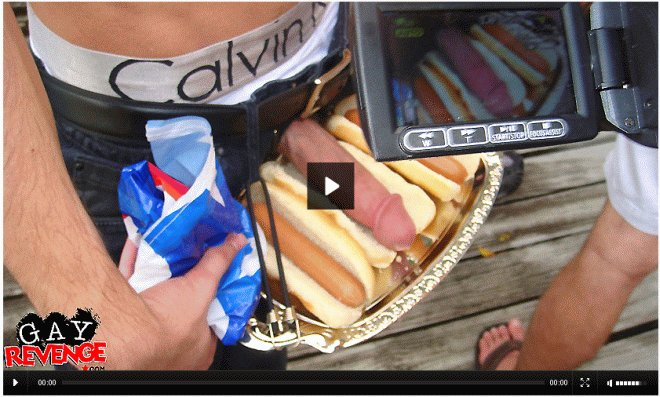 Dick in hot dog bun penis